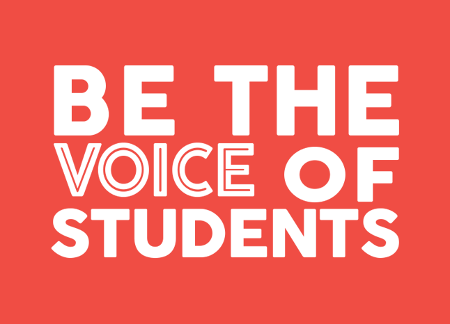 Be the voice of students