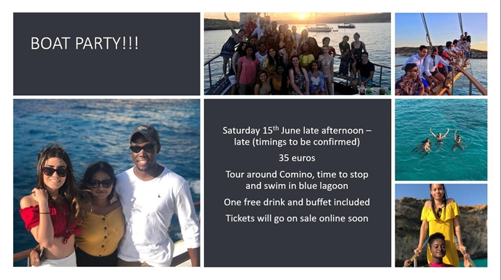 End of year Boat Party