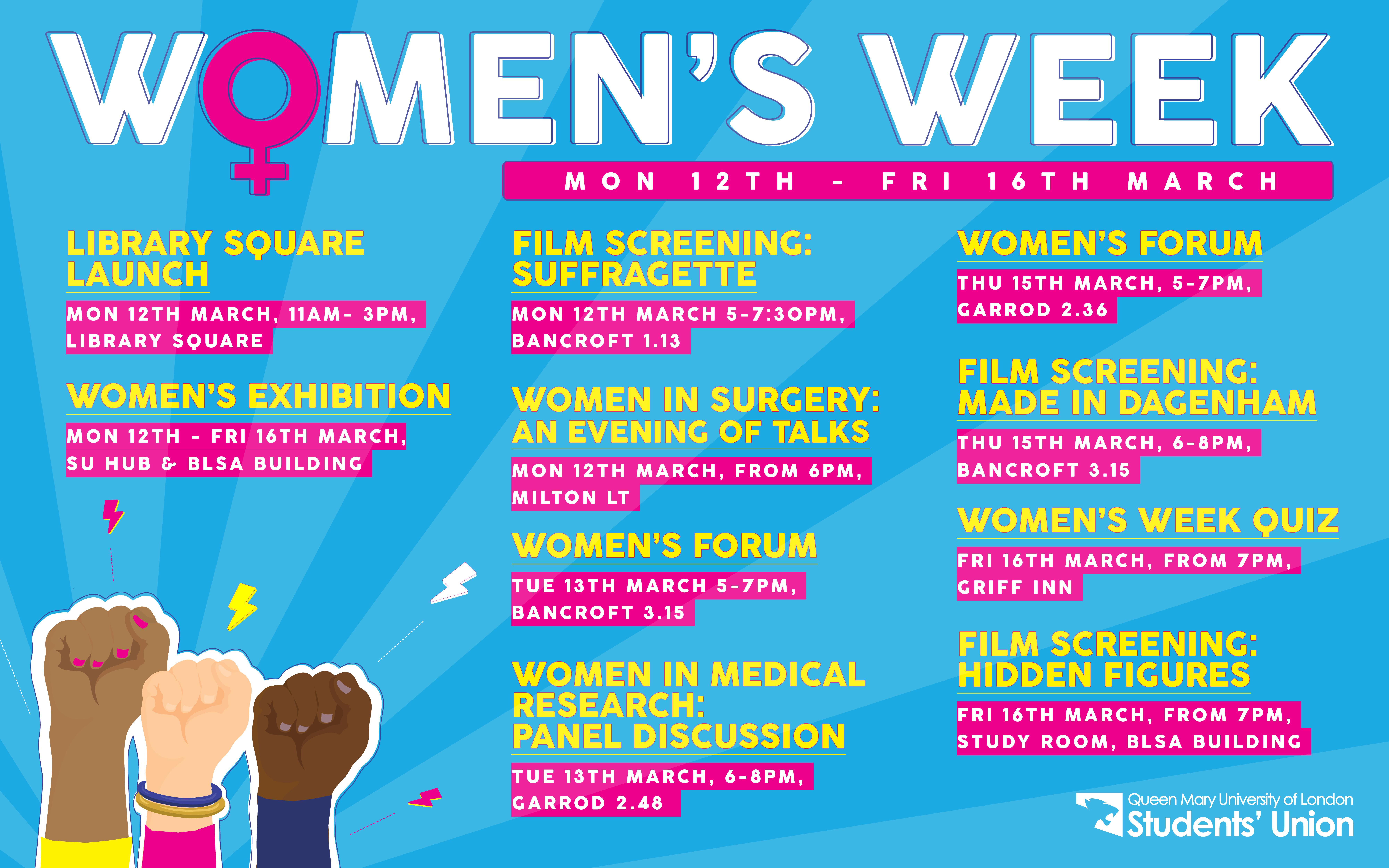 Women\'s Week at QMSU