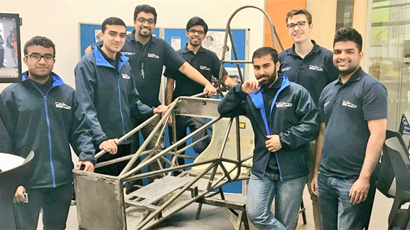 Formula Student with their chassis